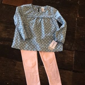 NWT hearts outfit Carter's 3T